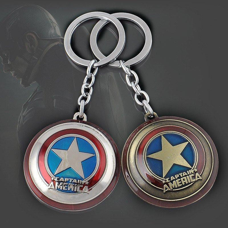 Captain America Shield Keychain - Muse Raven - Dream Out Loud