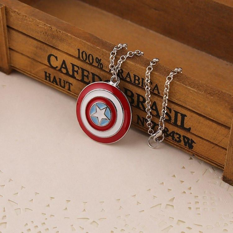 Captain America Shield Necklace - The Dragon Shop - Geek Culture