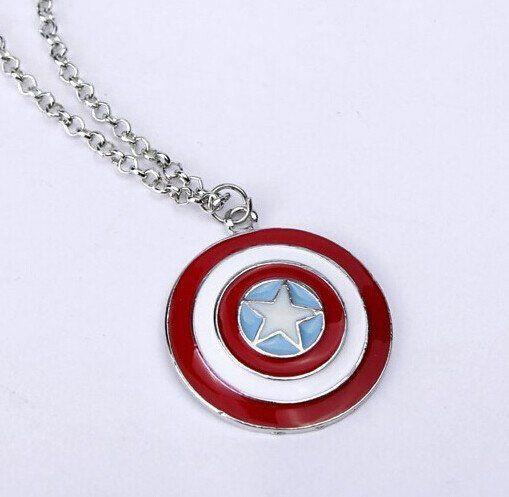 Captain America Shield Necklace - Muse Raven - Dream Out Loud