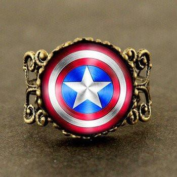 Captain America Shield Ring - The Dragon Shop - Geek Culture