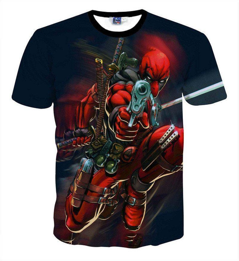Deadpool Ready To Play T-Shirts - The Dragon Shop - Geek Culture