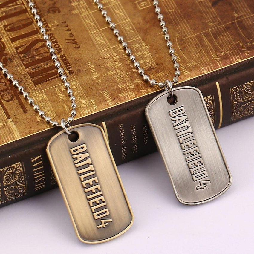 Battlefield Steel Tag Necklace - The Dragon Shop - Geek Culture