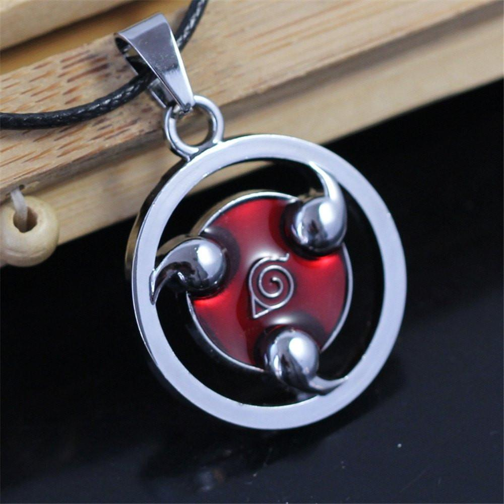 Naruto Sharingan Steel Necklace - The Dragon Shop - Geek Culture