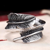 Feather Stainless Steel Ring - The Dragon Shop - Geek Culture