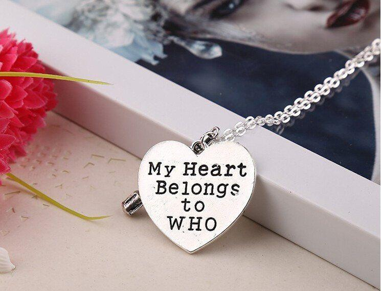 Dr. Who My Heart Belongs To WHO Necklace - The Dragon Shop - Geek Fashion