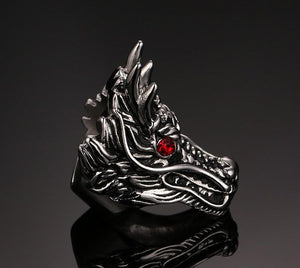 Dragon Rage Steel Ring - The Dragon Shop - Geek Culture