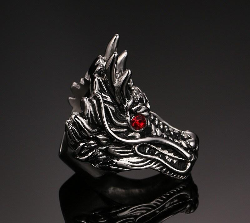 DRAGONRAGE Stainless Steel Ring - The Dragon Shop - Geek Culture