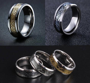 Nordic Dragon - Viking Steel Ring - The Dragon Shop - Geek Culture