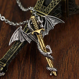 Dragon Sword Steel Necklace - The Dragon Shop - Geek Culture