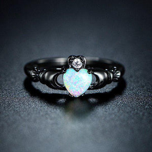 Universe Heart Fire Opal Ring - The Dragon Shop - Geek Culture