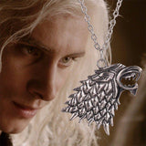 GoT The White Wolf Necklace - The Dragon Shop - Geek Culture