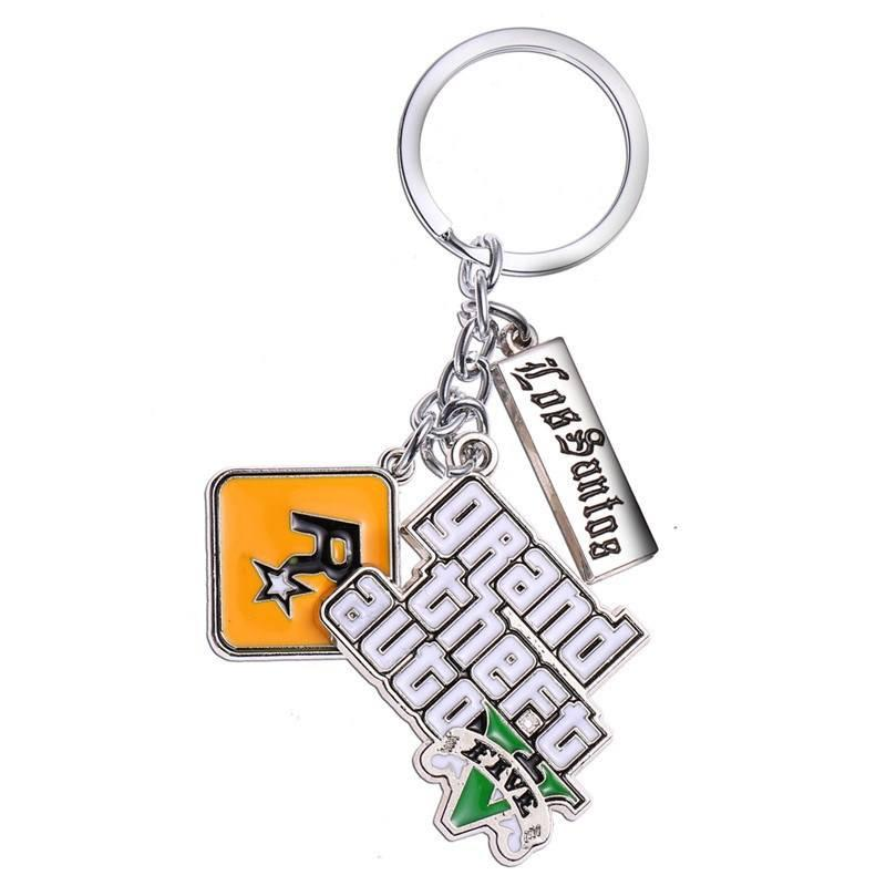 GTA V Los Santos Stainless Steel Keychain - Muse Raven - Dream Out Loud
