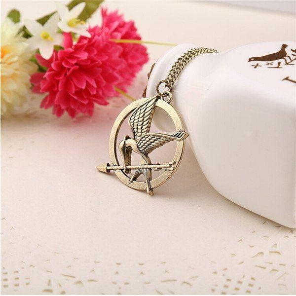 Hunger Games Mocking Jay Necklace - Muse Raven - Dream Out Loud