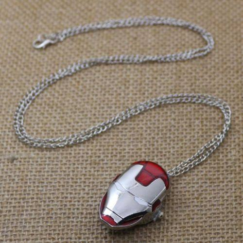 Iron-Man Pocket Watch Necklace - The Dragon Shop - Geek Culture