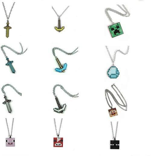 Minecraft Pixel Necklace - The Dragon Shop - Geek Culture