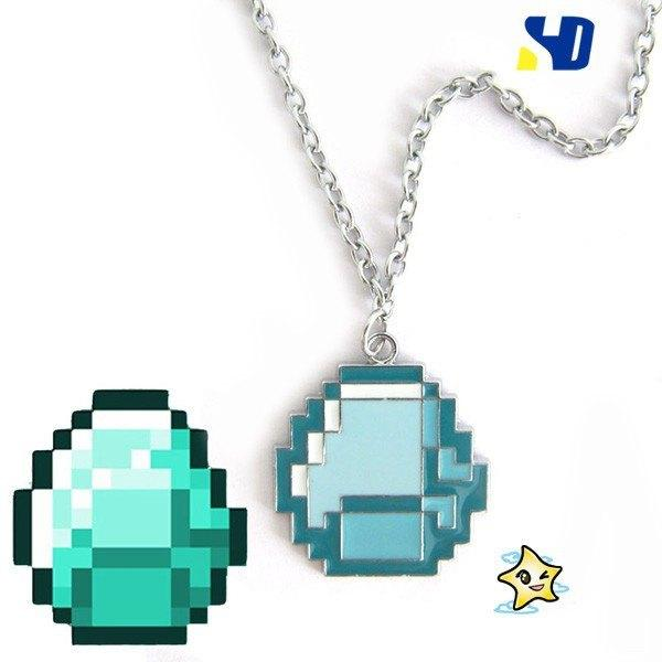 Minecraft Pixel Necklace - Muse Raven - Dream Out Loud