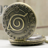 Naruto Konoha Pocket Watch - The Dragon Shop - Geek Culture