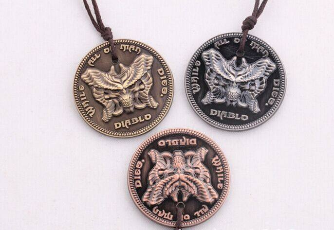 Diablo III While All Man Dies Necklace - The Dragon Shop - Geek Culture