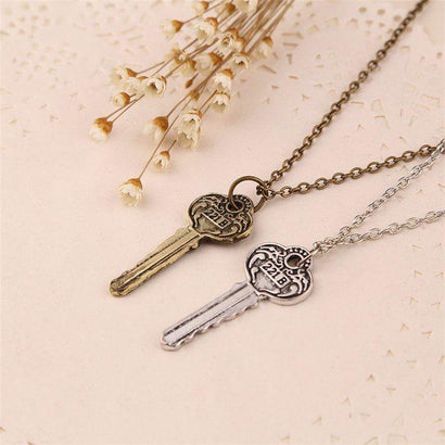 Sherlock 221b Key Necklace - The Dragon Shop - Geek Culture