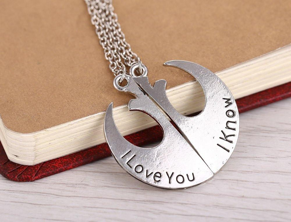 Necklace - Star Wars I Love You / I Know Necklaces
