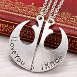 Star Wars I Love You / I Know Necklaces - The Dragon Shop - Geek Culture