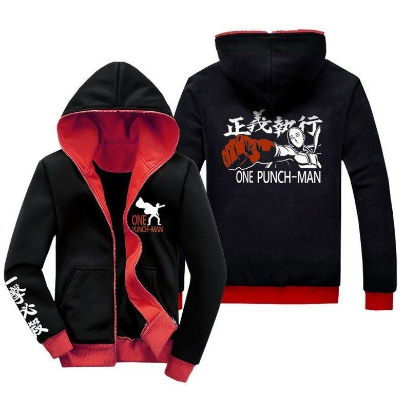 One Punch Man Saitama Hoodie - The Dragon Shop - Geek Culture