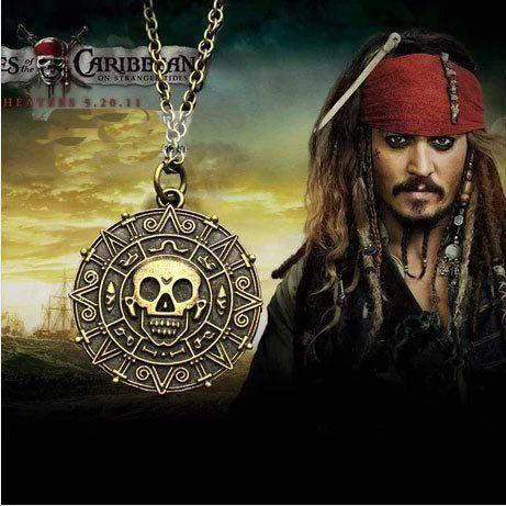 Pirates of The Caribbean Aztec Gold Coin Necklace - The Dragon Shop - Geek Culture