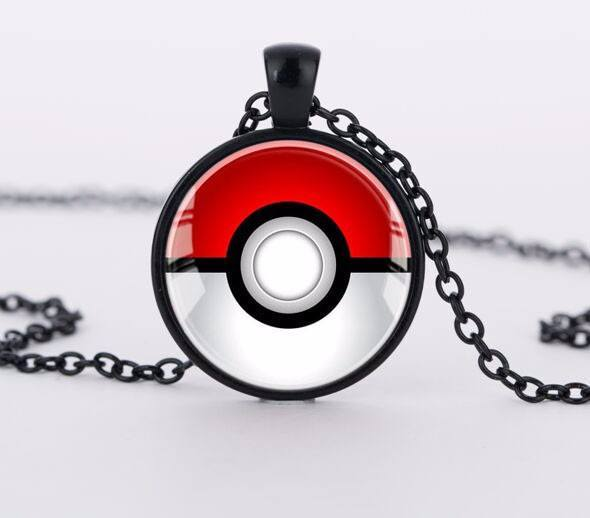 Pokeball Steel Necklace - Muse Raven - Dream Out Loud