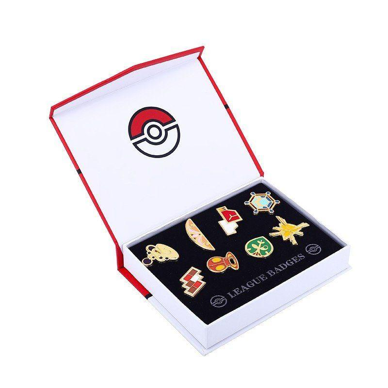 Pokémon League Badges Collection (8 Pieces Box) - The Dragon Shop - Geek Culture