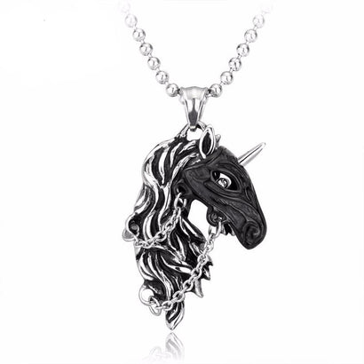 War Stallion Steel Necklace - The Dragon Shop - Geek Culture
