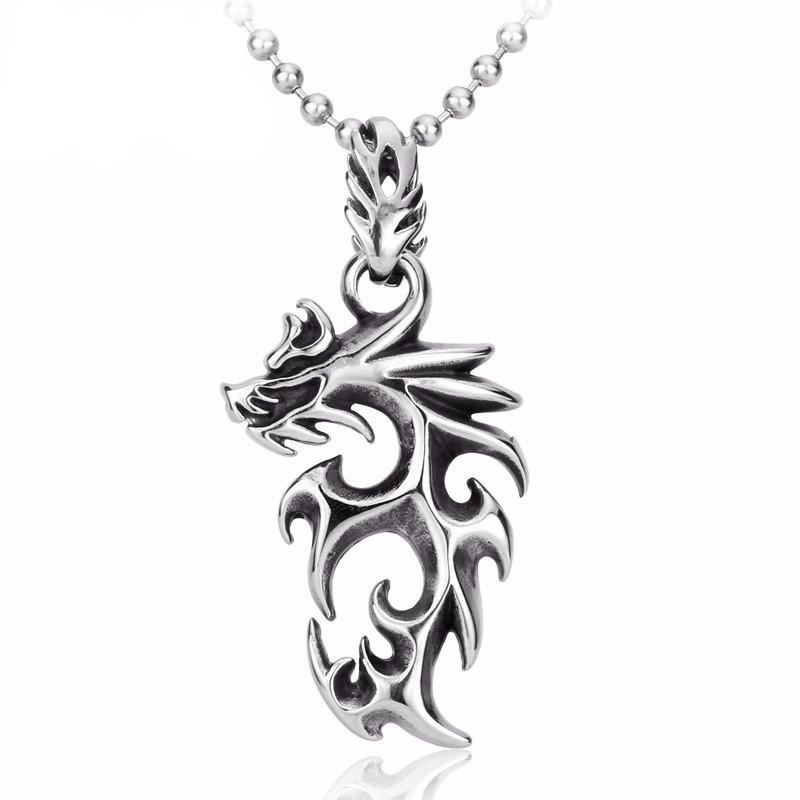 DRAGON STORM Stainless Steel Necklace - The Dragon Shop - Geek Culture