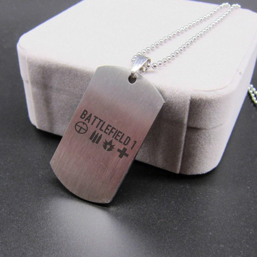 Battlefield Stainless Steel Tag Necklace - The Dragon Shop - Geek Culture