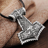 Hammer of The Gods Silver Necklace - The Dragon Shop - Geek Culture