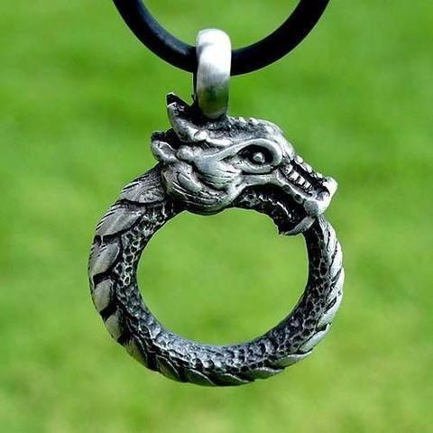 Ouroboros Celtic Necklace - The Dragon Shop - Geek Culture