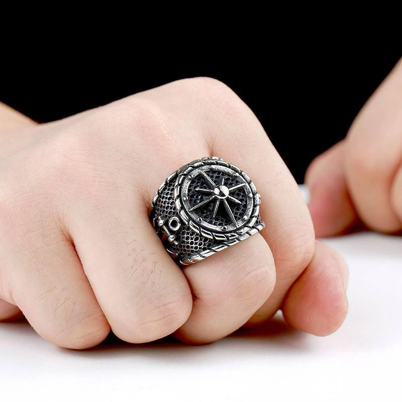 Anchors Aweigh Stainless Steel Ring - The Dragon Shop - Geek Culture