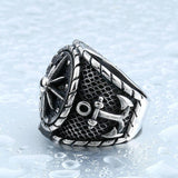 Anchors Aweigh Steel Ring - The Dragon Shop - Geek Culture
