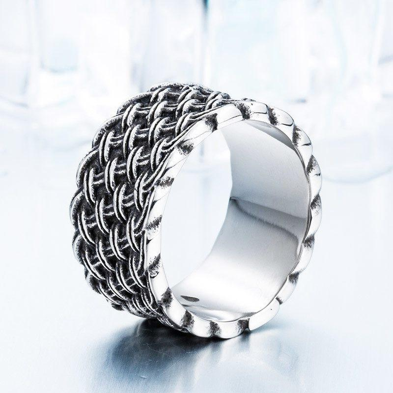 IRONFORGE Stainless Steel Ring - The Dragon Shop - Geek Culture