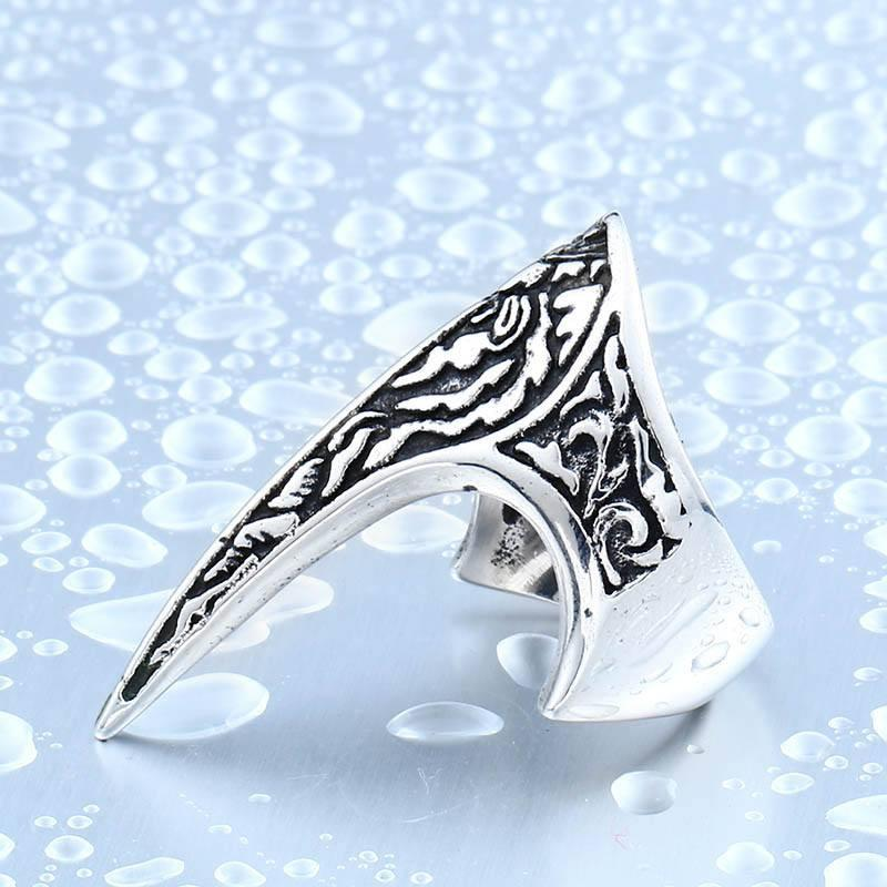 Elf's Defender Steel Ring - The Dragon Shop - Geek Culture
