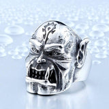 Orc Warrior Stainless Steel Ring - The Dragon Shop - Geek Culture