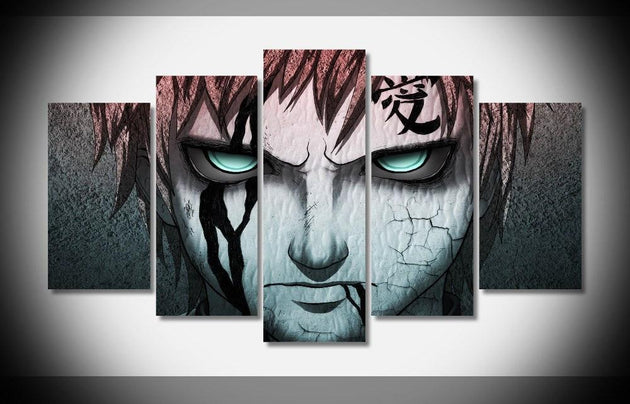 Gaara Love Artistic 5 Piece Canvas - The Dragon Shop - Geek Culture