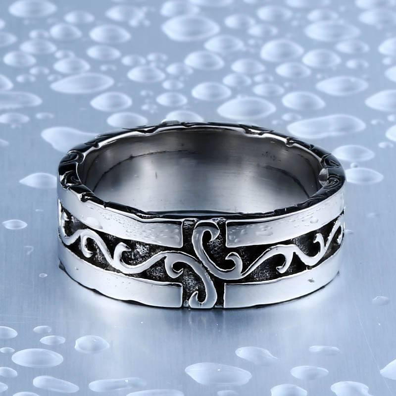 Viking Pride Steel Ring - The Dragon Shop - Geek Culture