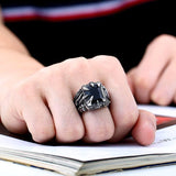 Dragon Grasp Stainless Steel Ring - The Dragon Shop - Geek Culture