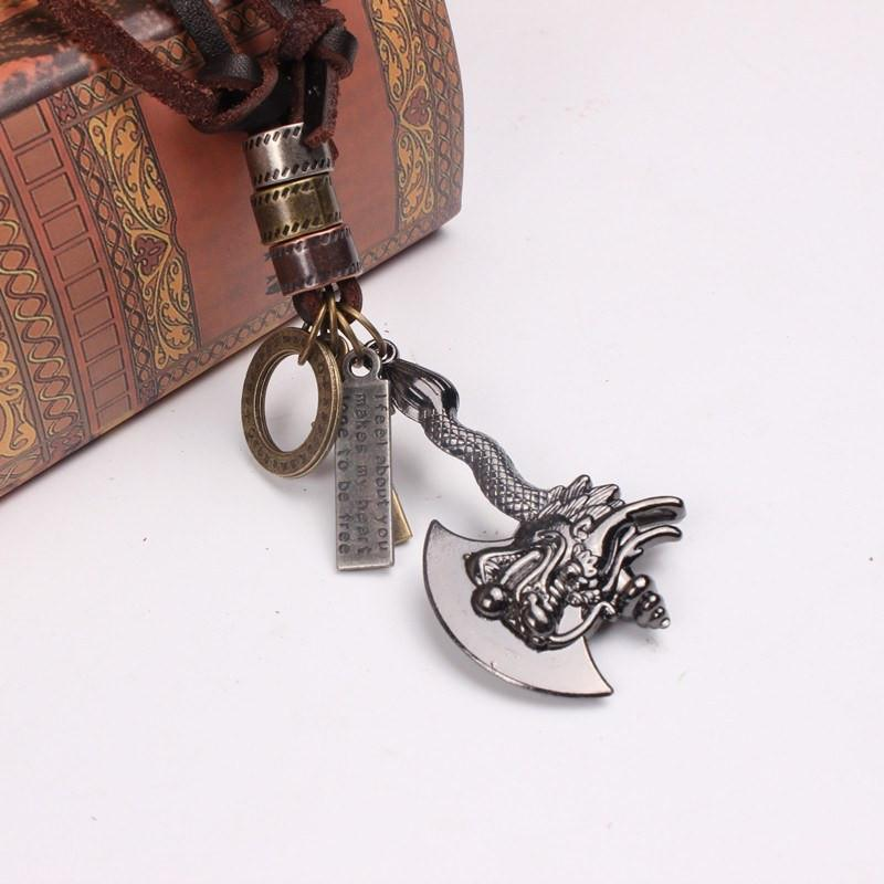 DRAGON SLAYER Axe Steel Neklace - The Dragon Shop - Geek Culture
