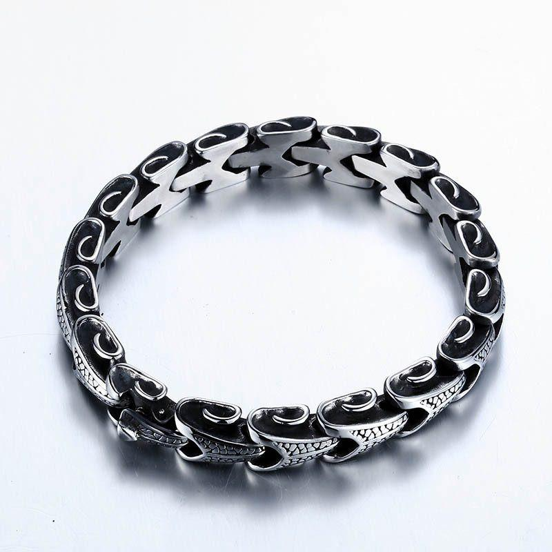 Eternal Dragon Steel Bracelet - The Dragon Shop - Geek Culture
