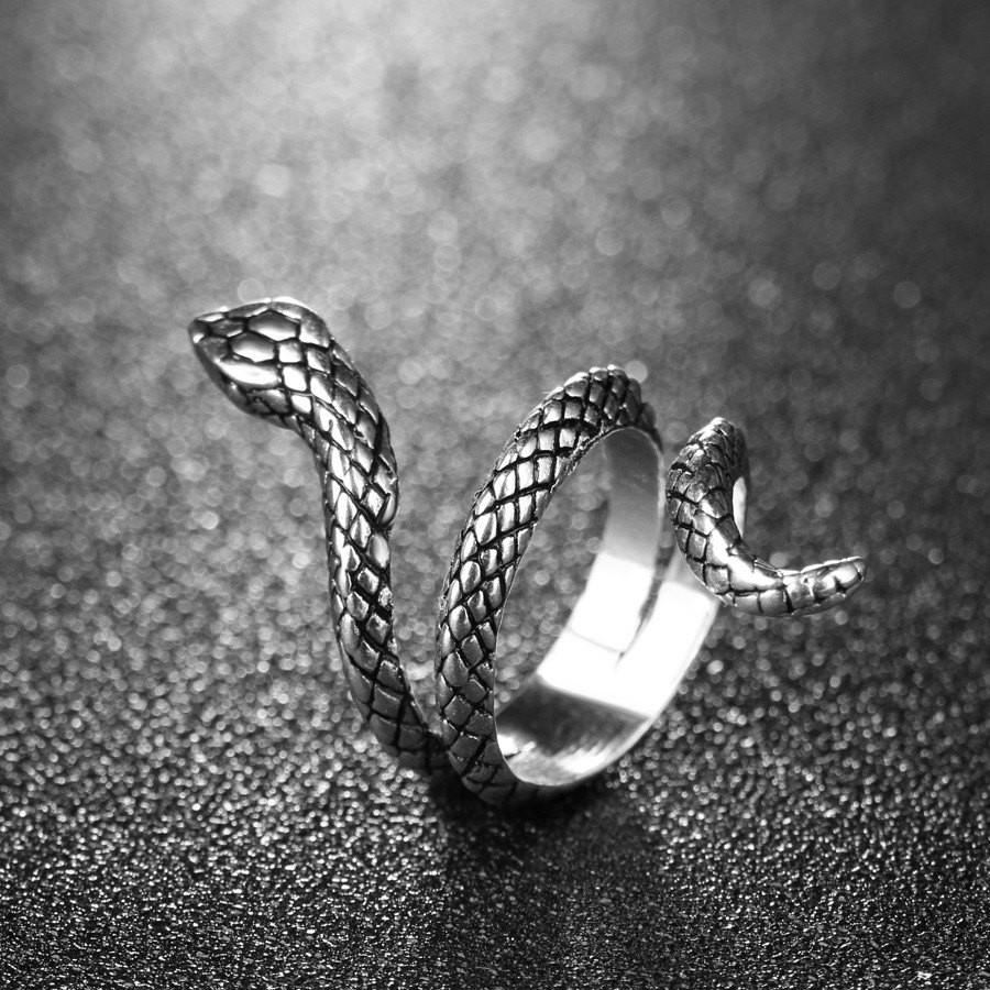 Serpentine Silver Ring - The Dragon Shop - Geek Culture