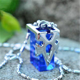 Sword Art Online Blue Metastasis Crystal Necklace - The Dragon Shop - Geek Culture