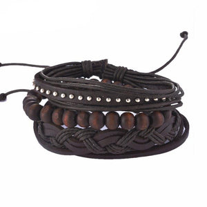 BARD Leather & Wood Bracelet - The Dragon Shop - Geek Culture