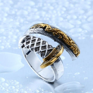 KATANA Steel Ring - The Dragon Shop - Geek Culture