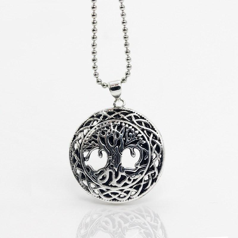 Yggdrasil World Tree Steel Necklace - The Dragon Shop - Geek Culture