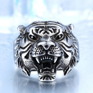 Tiger Fury Steel Ring - The Dragon Shop - Geek Culture